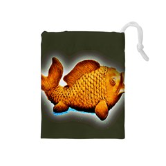 Goldfish Drawstring Pouch (Medium)