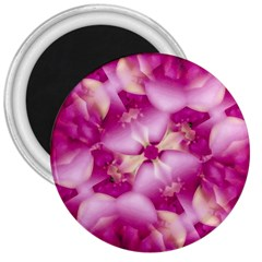 Beauty Pink Abstract Design 3  Button Magnet