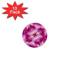 Beauty Pink Abstract Design 1  Mini Button (10 Pack)