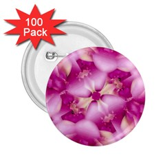 Beauty Pink Abstract Design 2 25  Button (100 Pack)