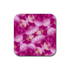 Beauty Pink Abstract Design Drink Coaster (square)