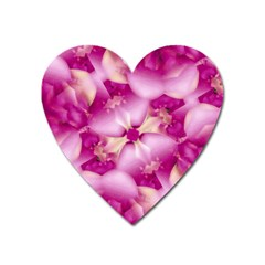 Beauty Pink Abstract Design Magnet (Heart)