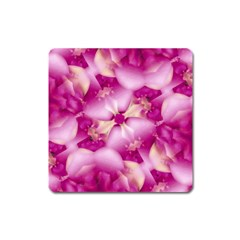Beauty Pink Abstract Design Magnet (square)