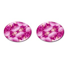 Beauty Pink Abstract Design Cufflinks (oval)