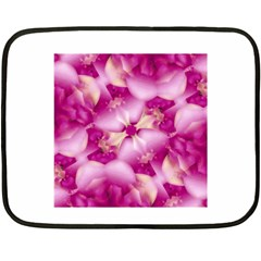 Beauty Pink Abstract Design Mini Fleece Blanket (Two Sided)