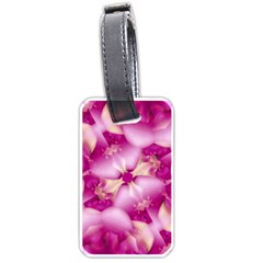 Beauty Pink Abstract Design Luggage Tag (Two Sides)