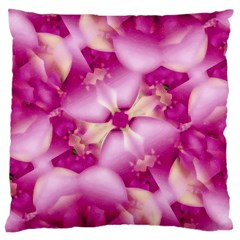 Beauty Pink Abstract Design Large Cushion Case (two Sided)