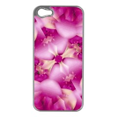 Beauty Pink Abstract Design Apple Iphone 5 Case (silver)
