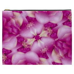 Beauty Pink Abstract Design Cosmetic Bag (xxxl)