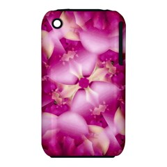 Beauty Pink Abstract Design Apple Iphone 3g/3gs Hardshell Case (pc+silicone)