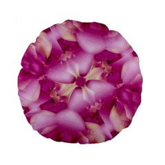 Beauty Pink Abstract Design 15  Premium Round Cushion