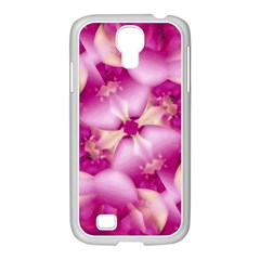 Beauty Pink Abstract Design Samsung Galaxy S4 I9500/ I9505 Case (white)