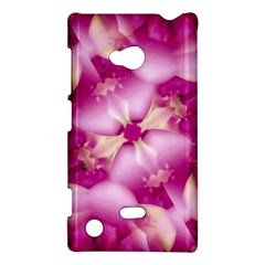 Beauty Pink Abstract Design Nokia Lumia 720 Hardshell Case