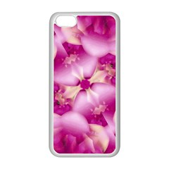 Beauty Pink Abstract Design Apple iPhone 5C Seamless Case (White)