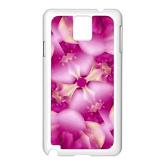Beauty Pink Abstract Design Samsung Galaxy Note 3 N9005 Case (White)