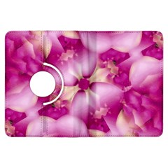Beauty Pink Abstract Design Kindle Fire HDX Flip 360 Case