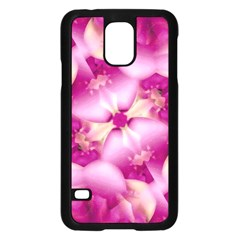 Beauty Pink Abstract Design Samsung Galaxy S5 Case (Black)