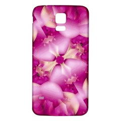 Beauty Pink Abstract Design Samsung Galaxy S5 Back Case (white)