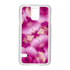 Beauty Pink Abstract Design Samsung Galaxy S5 Case (white)