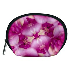 Beauty Pink Abstract Design Accessory Pouch (medium)