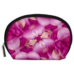 Beauty Pink Abstract Design Accessory Pouch (Large)