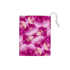 Beauty Pink Abstract Design Drawstring Pouch (Small)