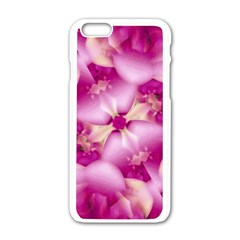 Beauty Pink Abstract Design Apple iPhone 6 White Enamel Case