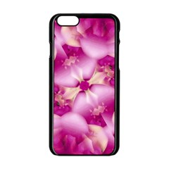 Beauty Pink Abstract Design Apple iPhone 6 Black Enamel Case