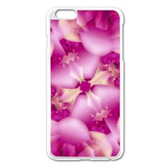 Beauty Pink Abstract Design Apple iPhone 6 Plus Enamel White Case
