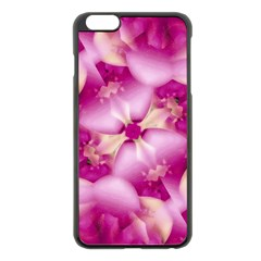 Beauty Pink Abstract Design Apple iPhone 6 Plus Black Enamel Case
