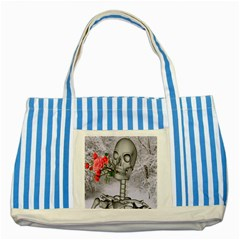 Looking Forward To Spring Blue Striped Tote Bag