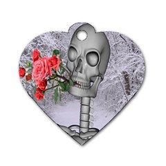 Looking Forward To Spring Dog Tag Heart (two Sided)