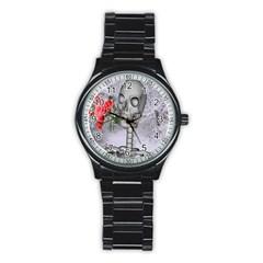 Looking Forward To Spring Sport Metal Watch (Black)