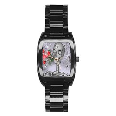 Looking Forward To Spring Stainless Steel Barrel Watch