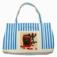Jammy Dodger Blue Striped Tote Bag