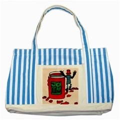 Jammy Dodger Blue Striped Tote Bag