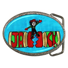 CRACKER JACK Belt Buckle (Oval)
