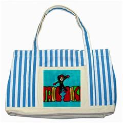 CRACKER JACK Blue Striped Tote Bag