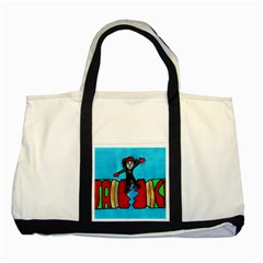 Cracker Jack Two Toned Tote Bag
