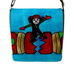 Cracker Jack Flap Closure Messenger Bag (large)
