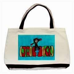 Cracker Jack Twin Sided Black Tote Bag