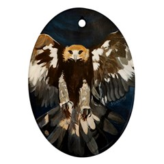 Golden Eagle Oval Ornament (two Sides)
