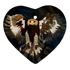 GOLDEN EAGLE Heart Ornament (Two Sides)