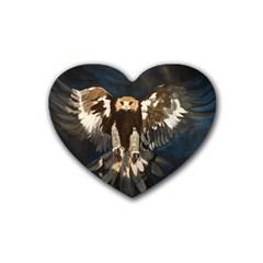 Golden Eagle Drink Coasters 4 Pack (heart)