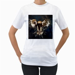 Golden Eagle Women s T Shirt (white)