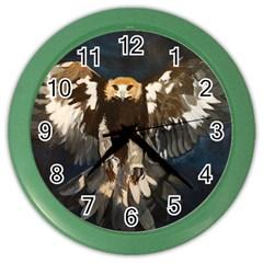 Golden Eagle Wall Clock (color)