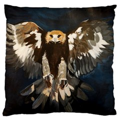 Golden Eagle Large Cushion Case (two Sided)