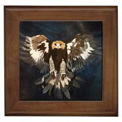 Golden Eagle Framed Ceramic Tile
