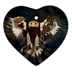 Golden Eagle Heart Ornament