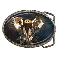 Golden Eagle Belt Buckle (oval)